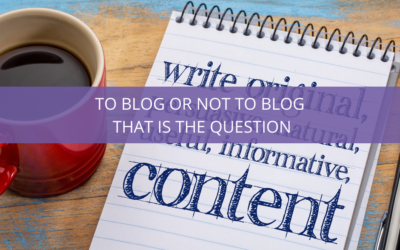 To Blog or Not to Blog that is the Question!