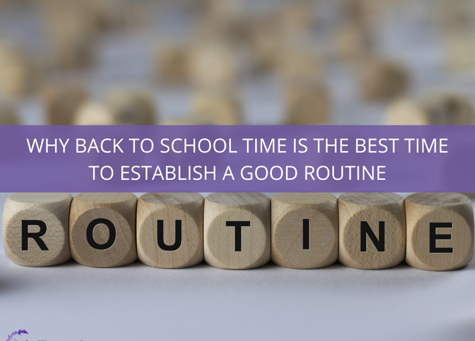Why back to school time is the best time to establish a good routine