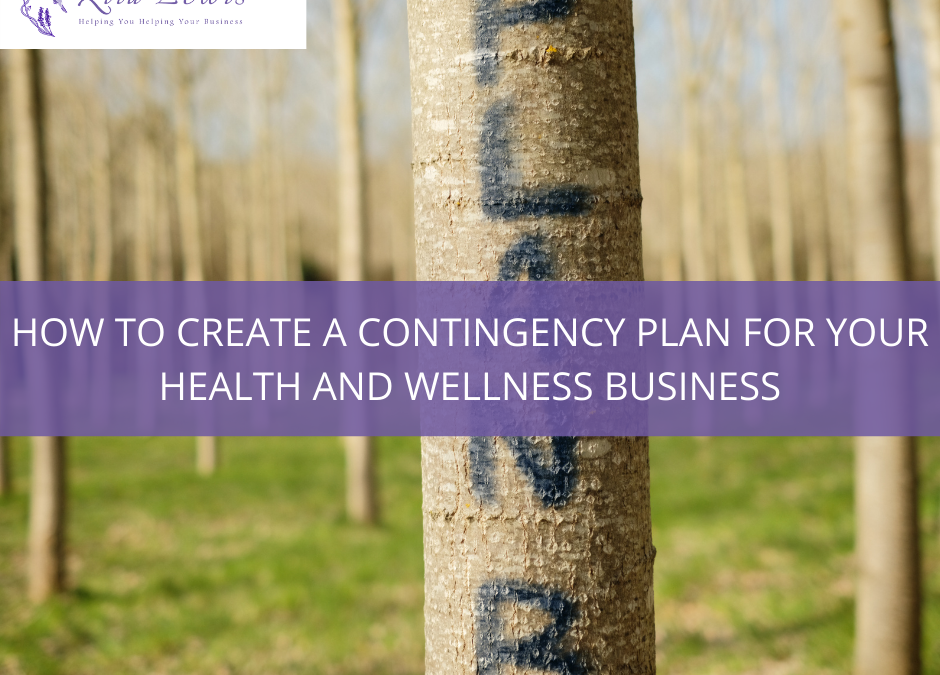 Contingency planning for holistic practitioners