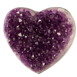 picture of an amethyst crystal to represent the calm, grounding feeling from having VA support in your business